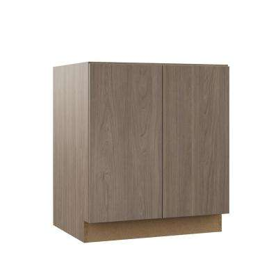 Edgeley Assembled 30x34.5x21 in. Full Door Height Vanity Base Cabinet in Driftwood
