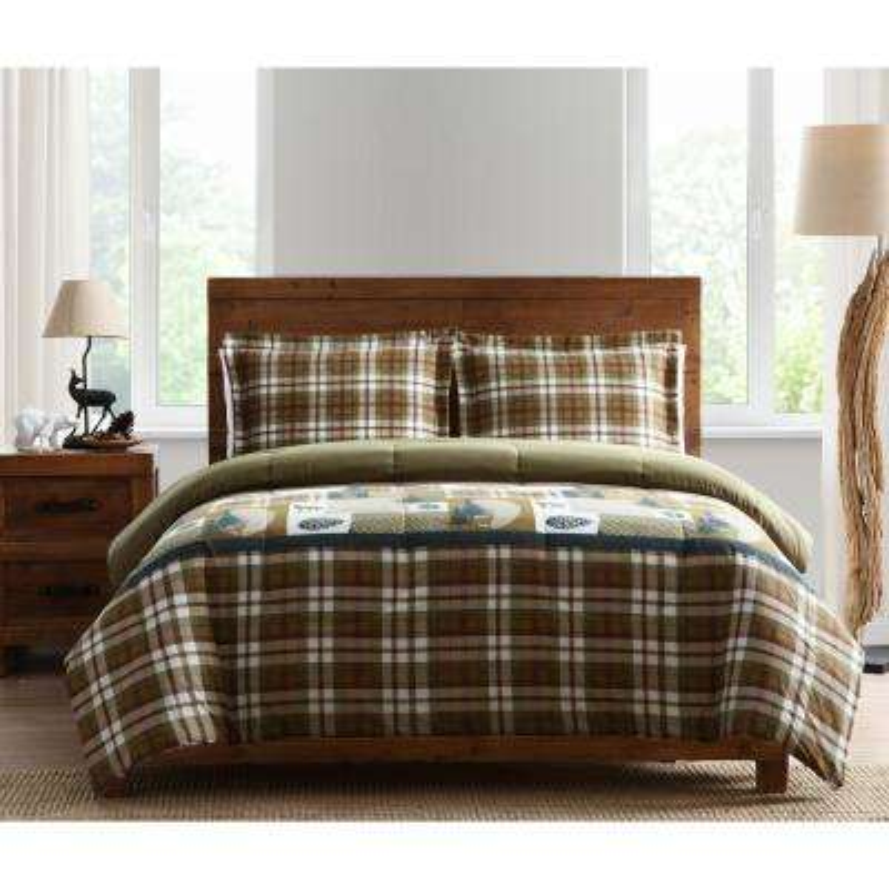 Morgan Home Mount Princeton 3-Piece King Plaid Comforter Set