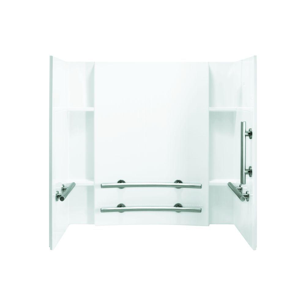 STERLING Accord 32 in. x 60 in. x 74 in. 3-piece Direct-to-Stud Tub and Shower Wall Set in White
