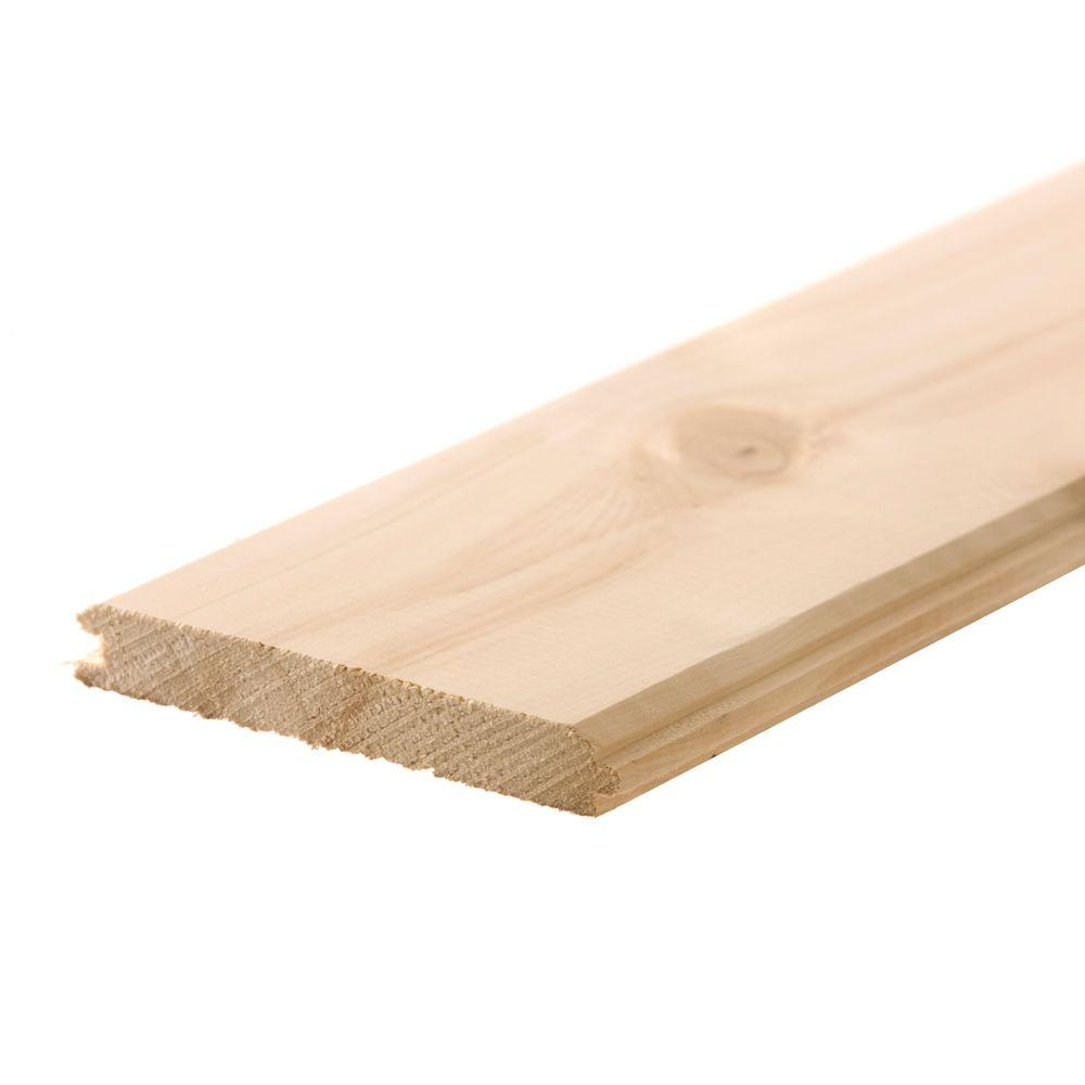 1 In X 8 In X 12 Ft Wp4 V Joint Tongue And Groove Board 720075 The Home Depot