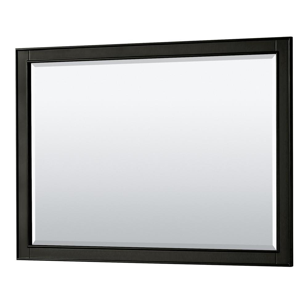 Deborah 46 in. W x 33 in. H Framed Wall Mirror in Dark Espresso