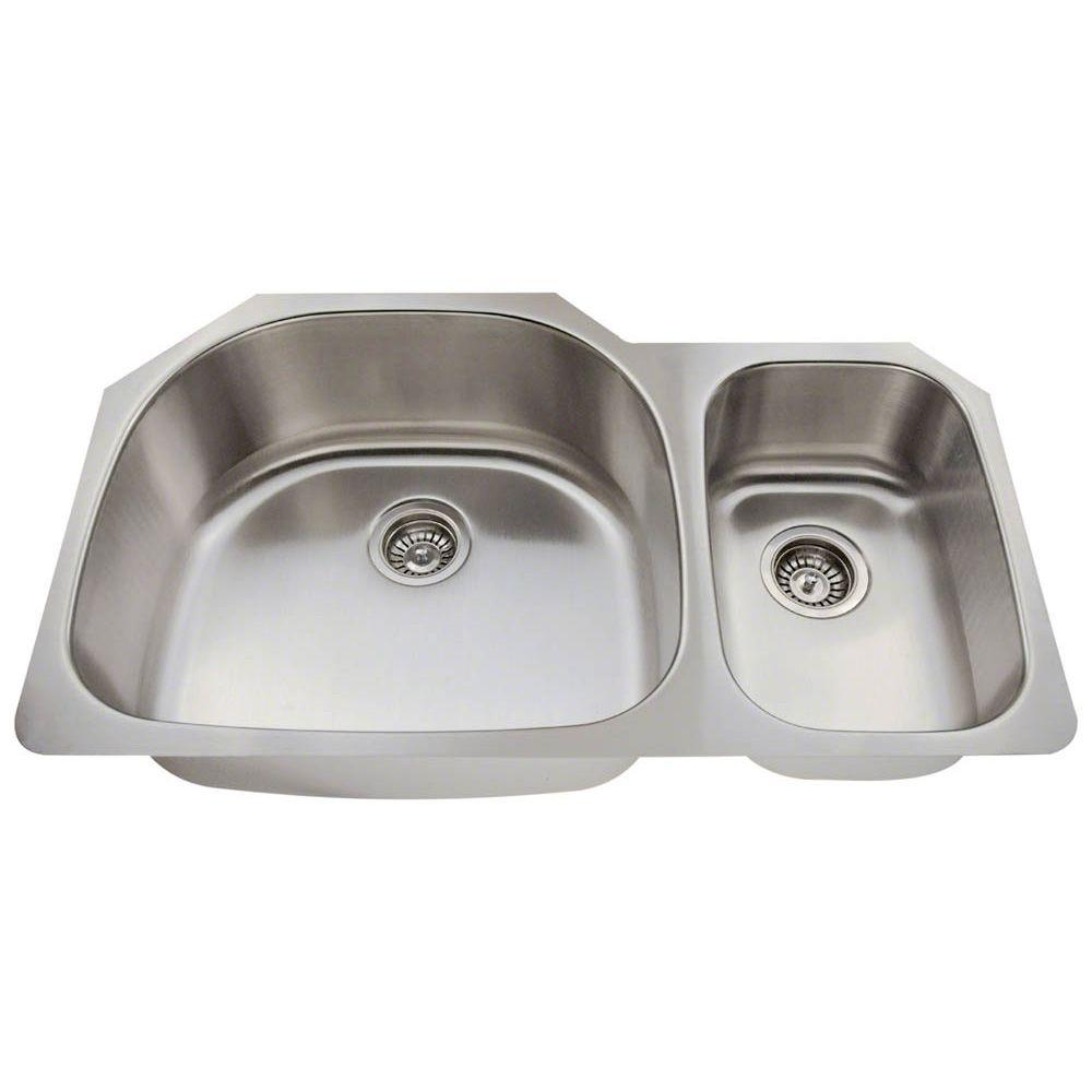 Kitchen Sink Keeps Backing Up: Polaris Sinks Undermount Stainless Steel 35 In. Double
