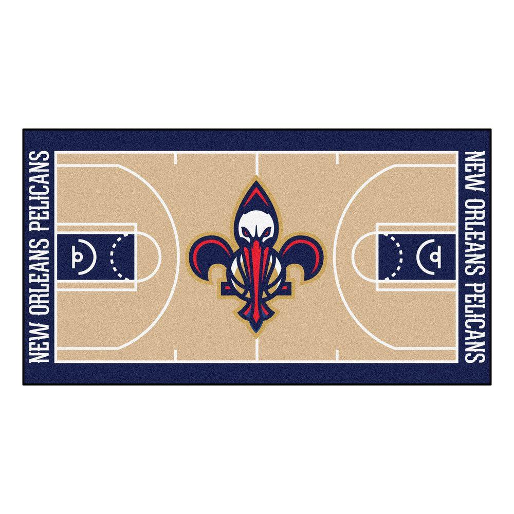 Fanmats New Orleans Pelicans 2 Ft X 3 Ft 8 In Nba Court