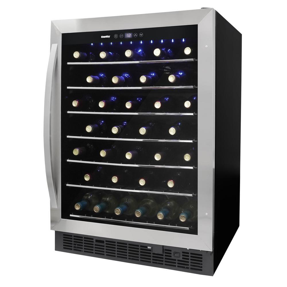 Single Zone 60-Bottle Built-in Wine Cooler