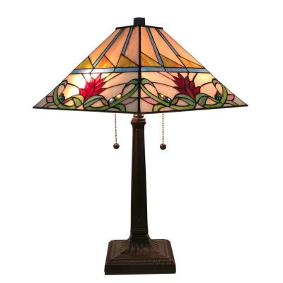 Tiffany Style 22 in. Tall Multi-Color Mission Table Lamp