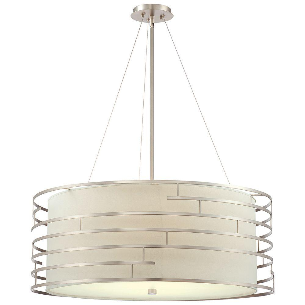 Philips Wall Hanging Lights : Philips Labyrinth 4-Light Satin Nickel Hanging Pendant-190216836 - The Home Depot