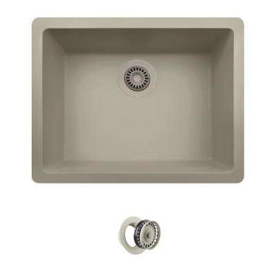 All-in-One Dualmount Composite 22 in. Single Bowl Kitchen Sink in Slate