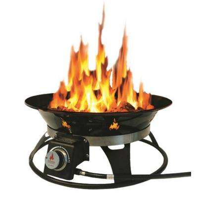 Cypress 21 in. Steel Portable Propane Fire Pit with Cover and Carry Kit