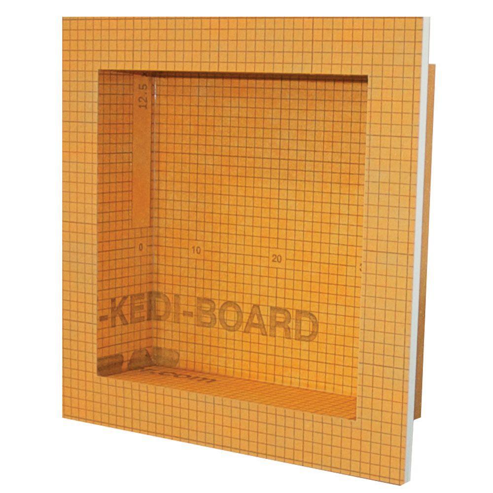Schluter Kerdi Board SN 12 in  x 12 in  Shower Niche. Schluter Kerdi Board SN 12 in  x 12 in  Shower Niche KB12SN305305A