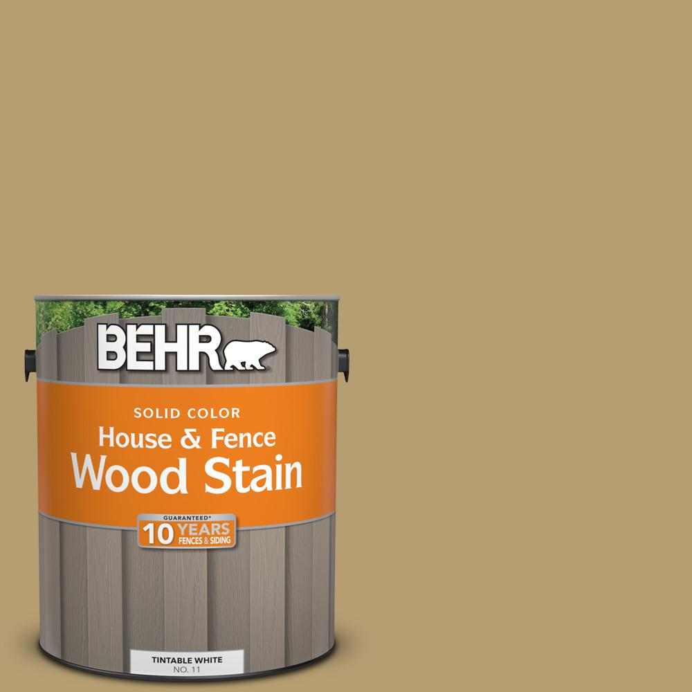 BEHR 1 gal. #SC-145 Desert Sand Solid Color House and Fence Wood Stain
