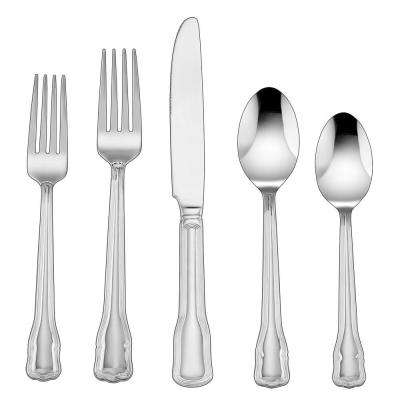 Macey Collection 45-Piece Flatware Set in Silver