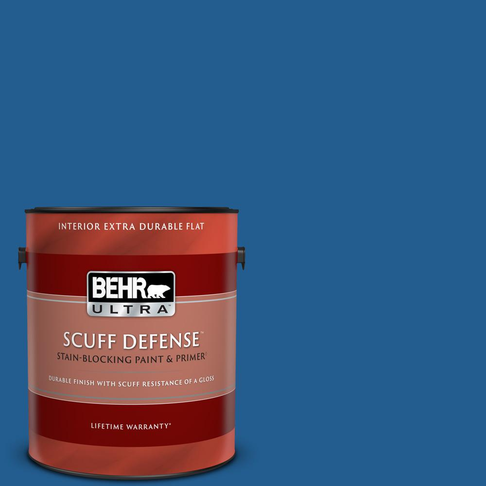 Behr Ultra 1 Gal S G 570 Sapphire Lace Extra Durable Flat Interior Paint And Primer In One 172301 The Home Depot