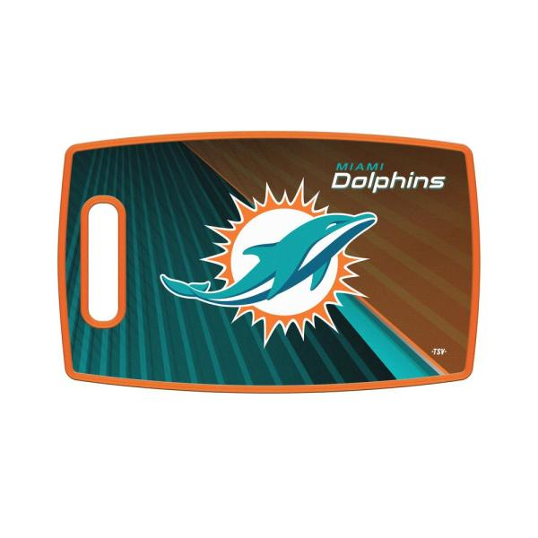 Miami Dolphins Large Plastic Cutting Board