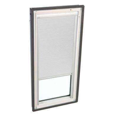 21 in. x 37-7/8 in. Fixed Deck-Mount Skylight with Laminated Low-E3 Glass and White Manual Room Darkening Blind