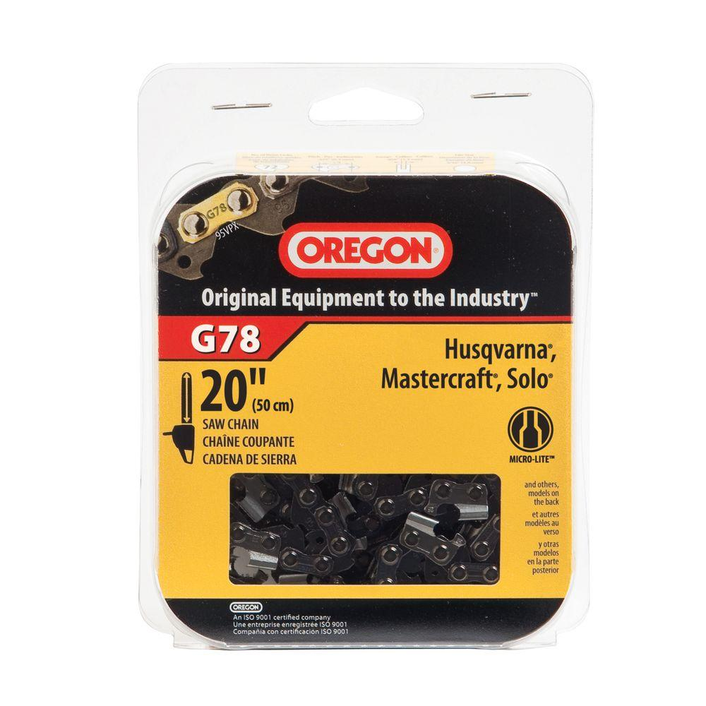 Oregon 20 in chainsaw chain g78 the home depot oregon 20 in chainsaw chain keyboard keysfo Image collections