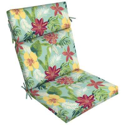 21 in. x 20 in. Elea Tropical Outdoor Dining Chair Cushion