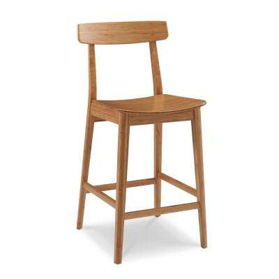 Currant 26 in. Caramelized 100% Solid Classic Bamboo Counter Stool with Back ...  sc 1 st  The Home Depot & Bar Stools - Kitchen u0026 Dining Room Furniture - The Home Depot islam-shia.org