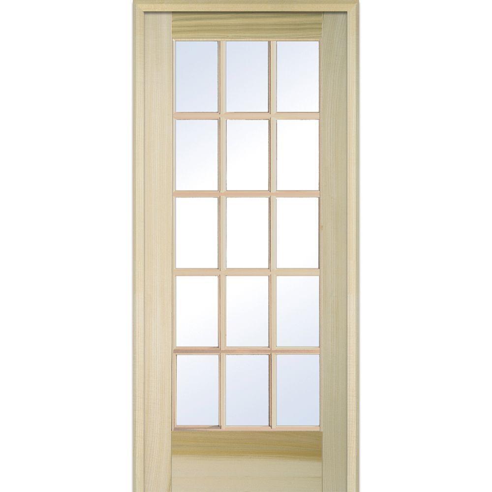 Fresh Prehung Glass Pantry Door