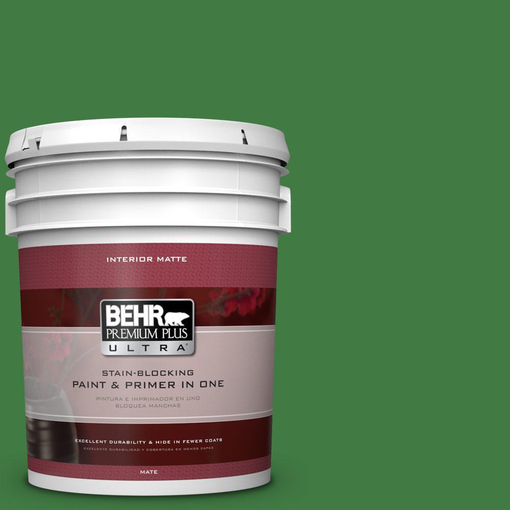 BEHR Premium Plus Ultra 5 gal. #M390-7 Hills of Ireland Matte Interior Paint