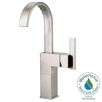 Sirius Single Hole Single-Handle High-Arc Vessel Bathroom Faucet in Brushed Nickel