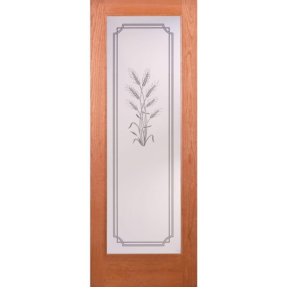 Merveilleux Feather River Doors 24 In. X 80 In. 1 Lite Unfinished Cherry Harvest  Woodgrain