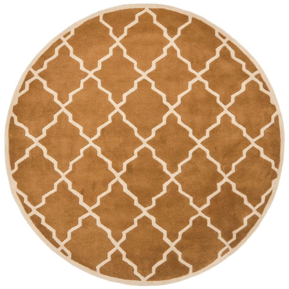 Safavieh Chatham Brown 5 Ft X 5 Ft Round Area Rug