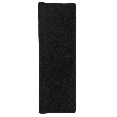 OurSpace Black 2 ft. x 6 ft. Bright Runner Rug