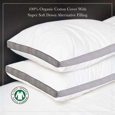 A1HC Down Alternative Gusset Organic Cotton Pillow