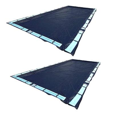 20 ft. x 40 ft. Rectangular In Ground Winter Swimming Pool Cover (2-Pack)