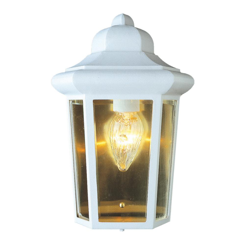 Rendell 1-Light White Outdoor Wall Mount Lantern