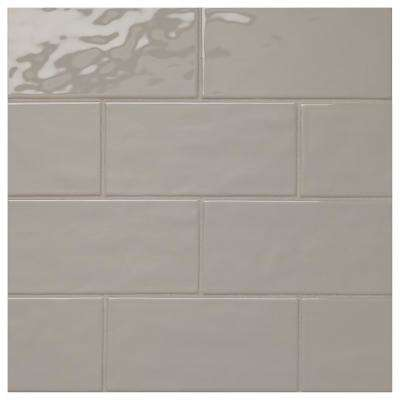 LuxeCraft Gray 4 in. x 8 in. Glazed Ceramic Modular Wall Tile (10.5 sq. ft. / case)