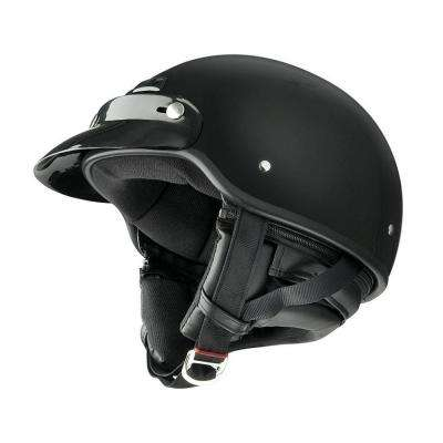 Medium Adult Deluxe Gloss Black Half Helmet