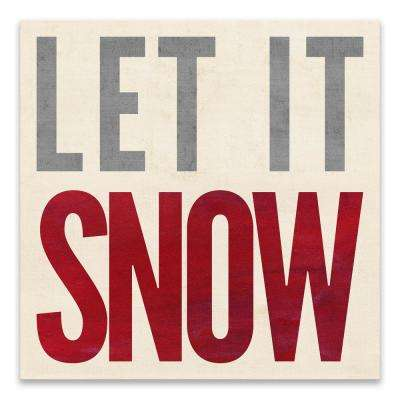 """Let It Snow"" by Lot26 Studio Wood Wall Art"