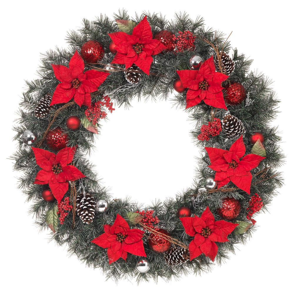 Artificial Christmas Wreaths.Christmas Wreaths Christmas Greenery The Home Depot