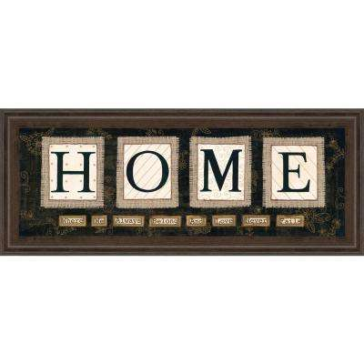 "18 in. x 42 in. ""Home"" by Anne Lapoint Framed Printed Wall Art"