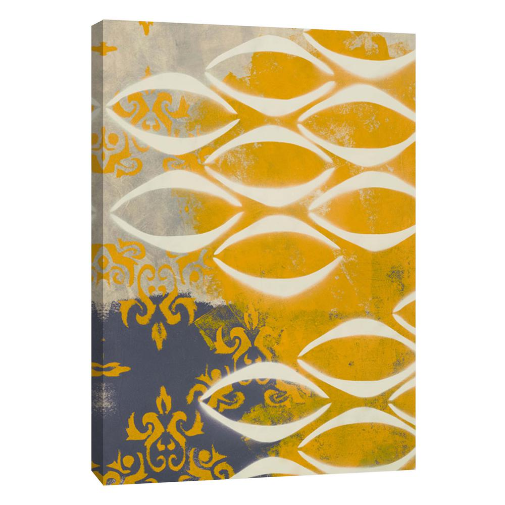 PTM Images 12.in x 10.in \'\'Yellow Pintura 3\'\' Printed Canvas Wall ...