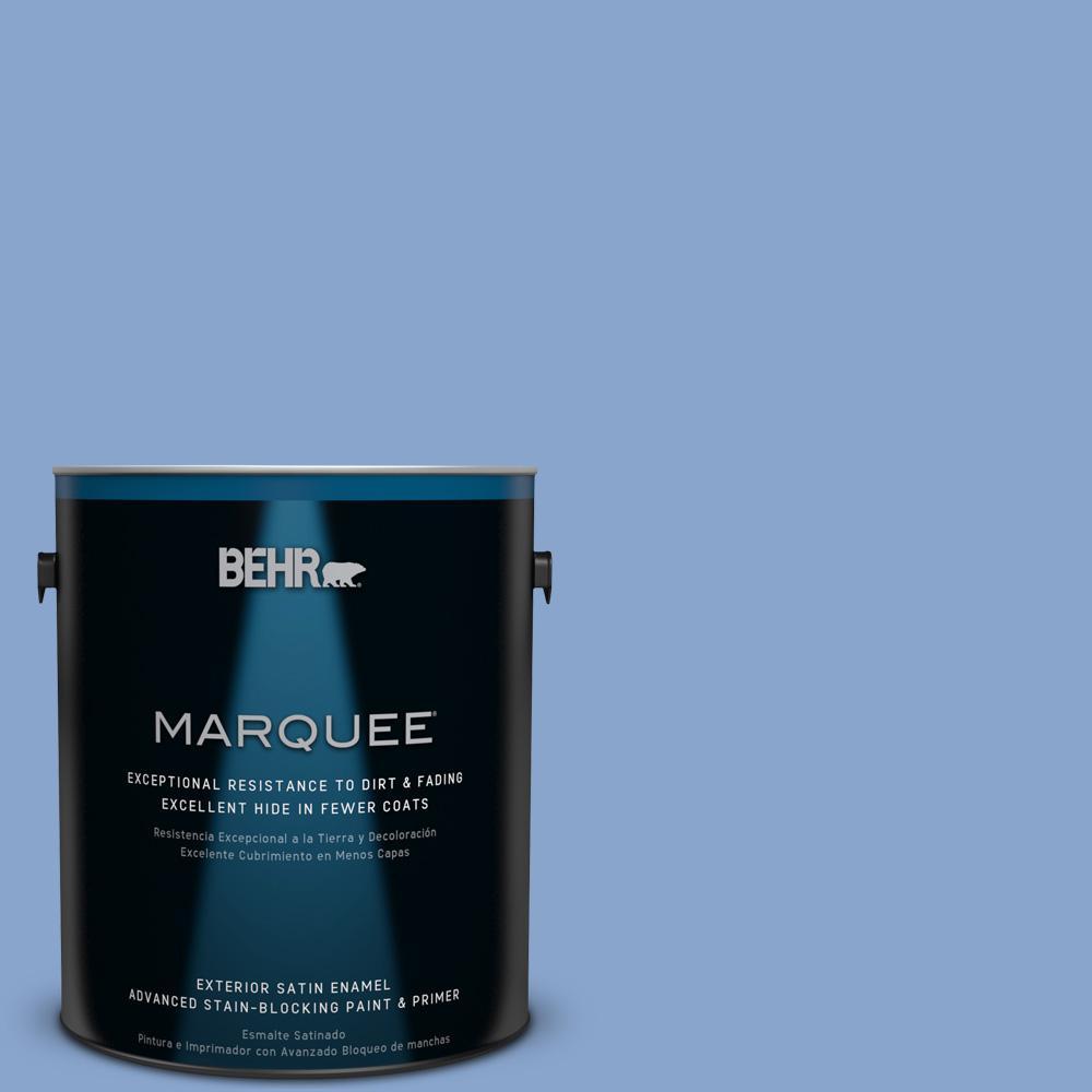BEHR MARQUEE 1-gal. #590D-4 Romantic Isle Satin Enamel Exterior Paint