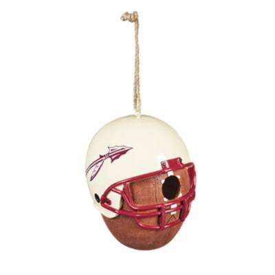 Florida State University 6.5 in. x 7.5 in. x 8 in. Polystone Hat/Helmet Ball Birdhouse