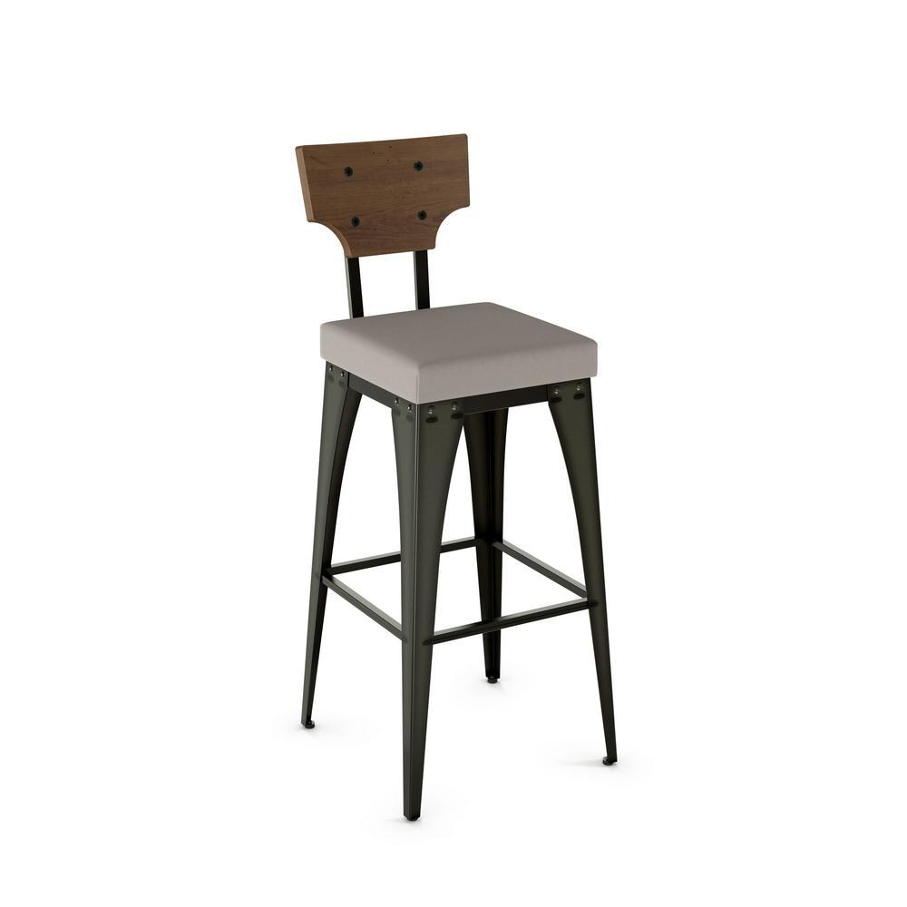 Prime Rally 26 In Semi Transparent Gun Metal Warm Grey Polyurethane Medium Brown Wood Counter Stool Andrewgaddart Wooden Chair Designs For Living Room Andrewgaddartcom