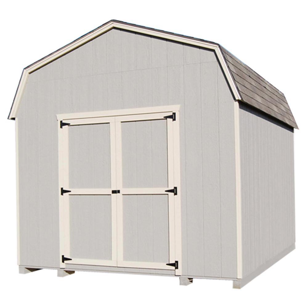 LITTLE-COTTAGE%C2%A0CO Value Gambrel 10 ft. x 10 ft. Wood Storage Building Precut Kit with 6 ft. Sidewalls