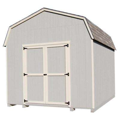 Value Gambrel 8 ft. x 16 ft. Wood Storage Building Precut Kit with 6' Sidewalls and Floor