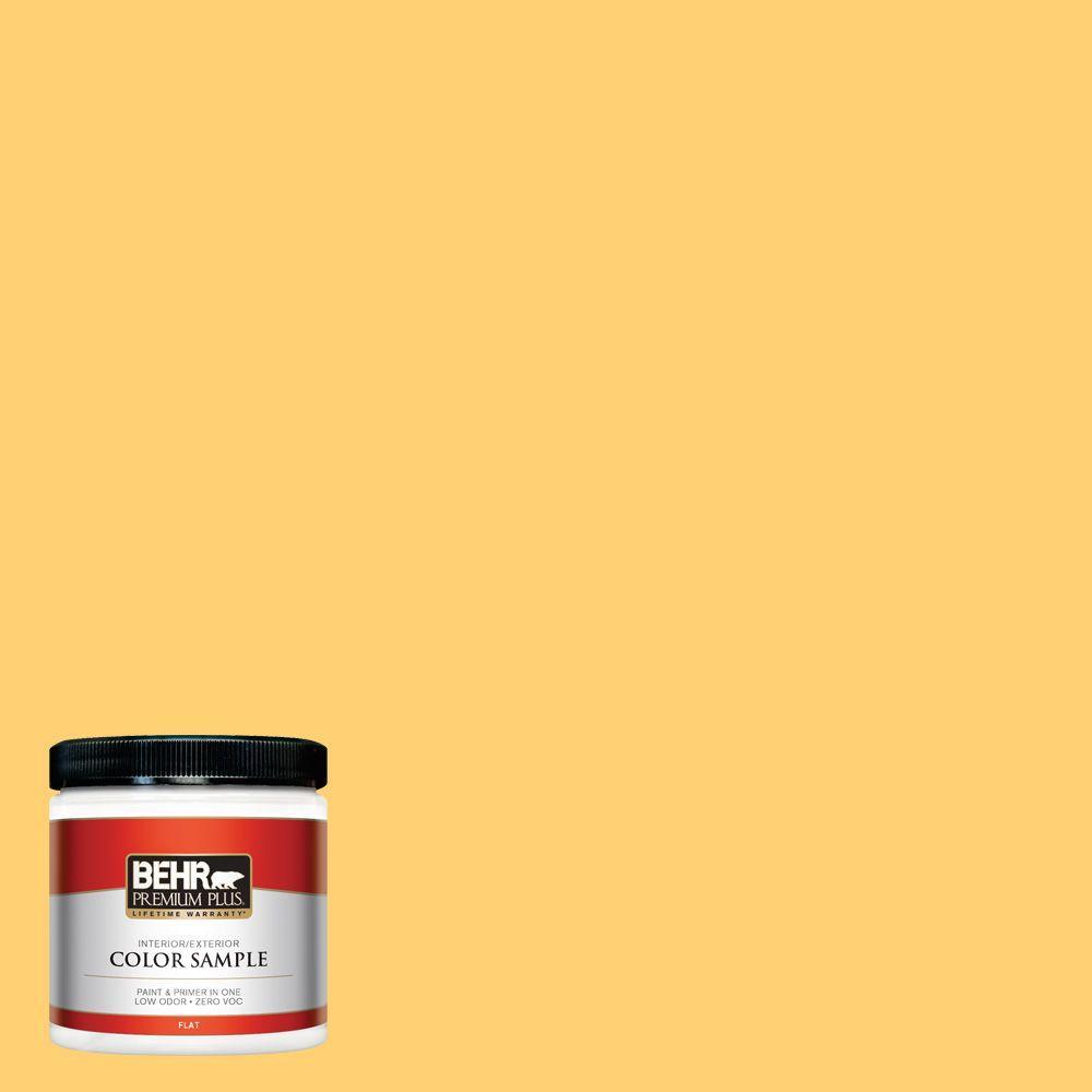 8 oz. #320B-6 Mellow Yellow Interior/Exterior Paint Sample