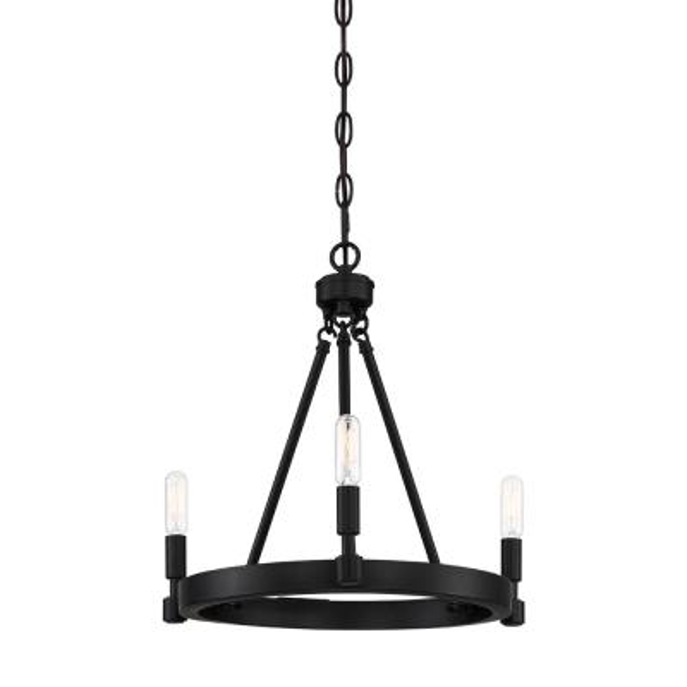 Fiora 3-Light Black Chandelier