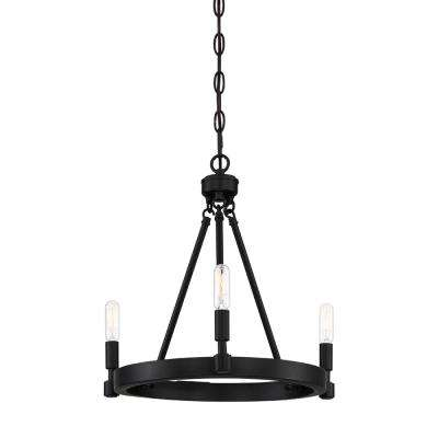 Fiora 3-Light Black Chandelier