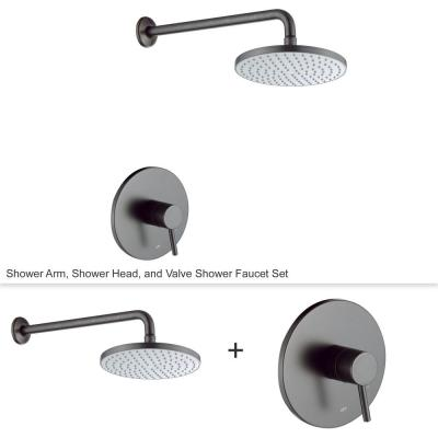 Single-Handle 1-Spray Shower Faucet with Valve in Oil Rubbed Bronze (Valve Included)