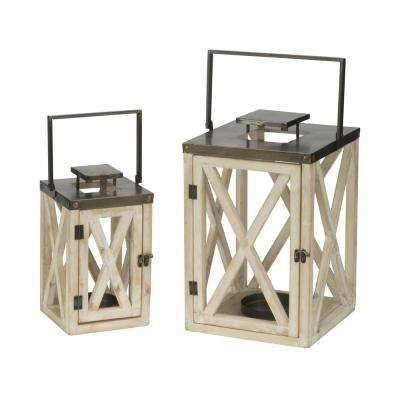 Lighthouse White Lanterns (Set of 2)