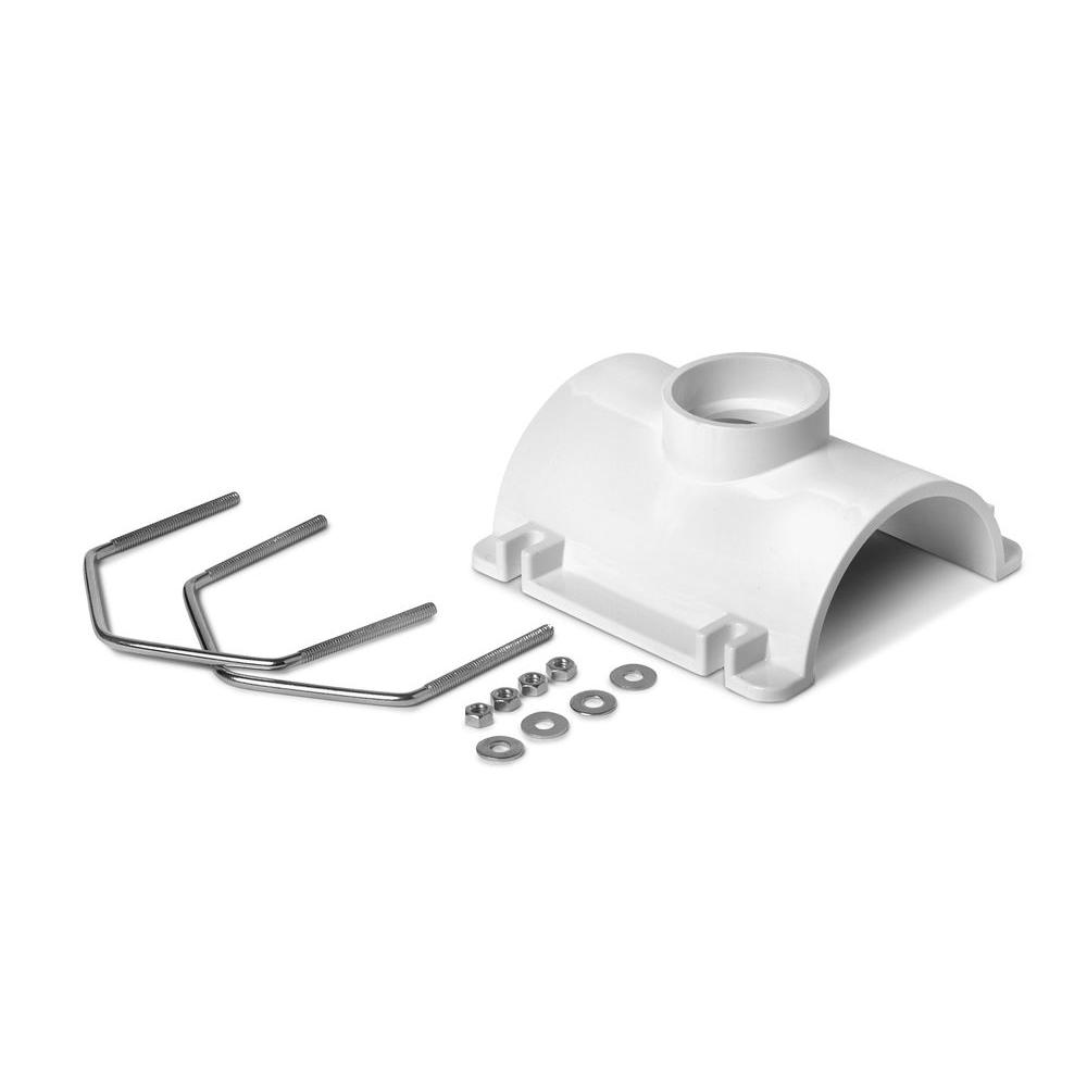 null 4 in. x 2 in. PVC DWV Saddle Tee Kit