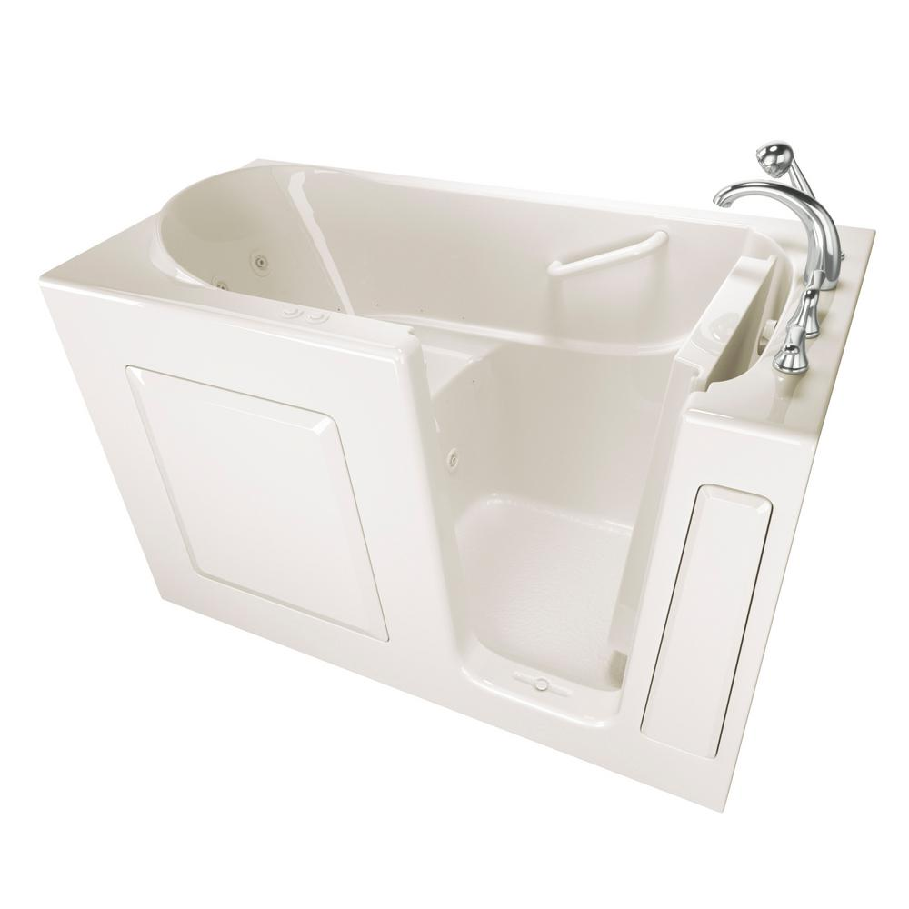Safety tubs value series 60 in walk in whirlpool and air for Walk in tub water capacity