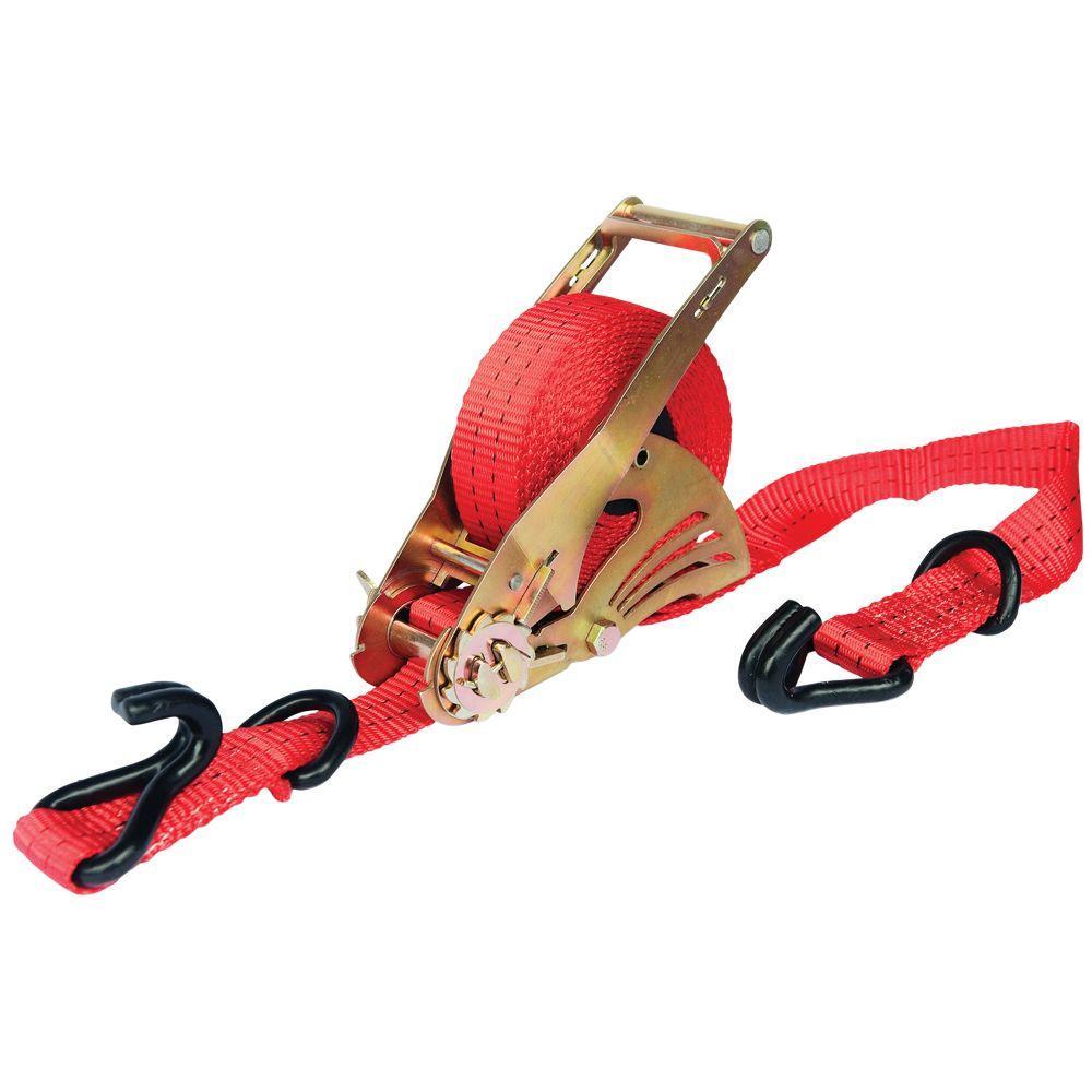 Retractable Ratchet Tie Down Strap 4500 lbs.