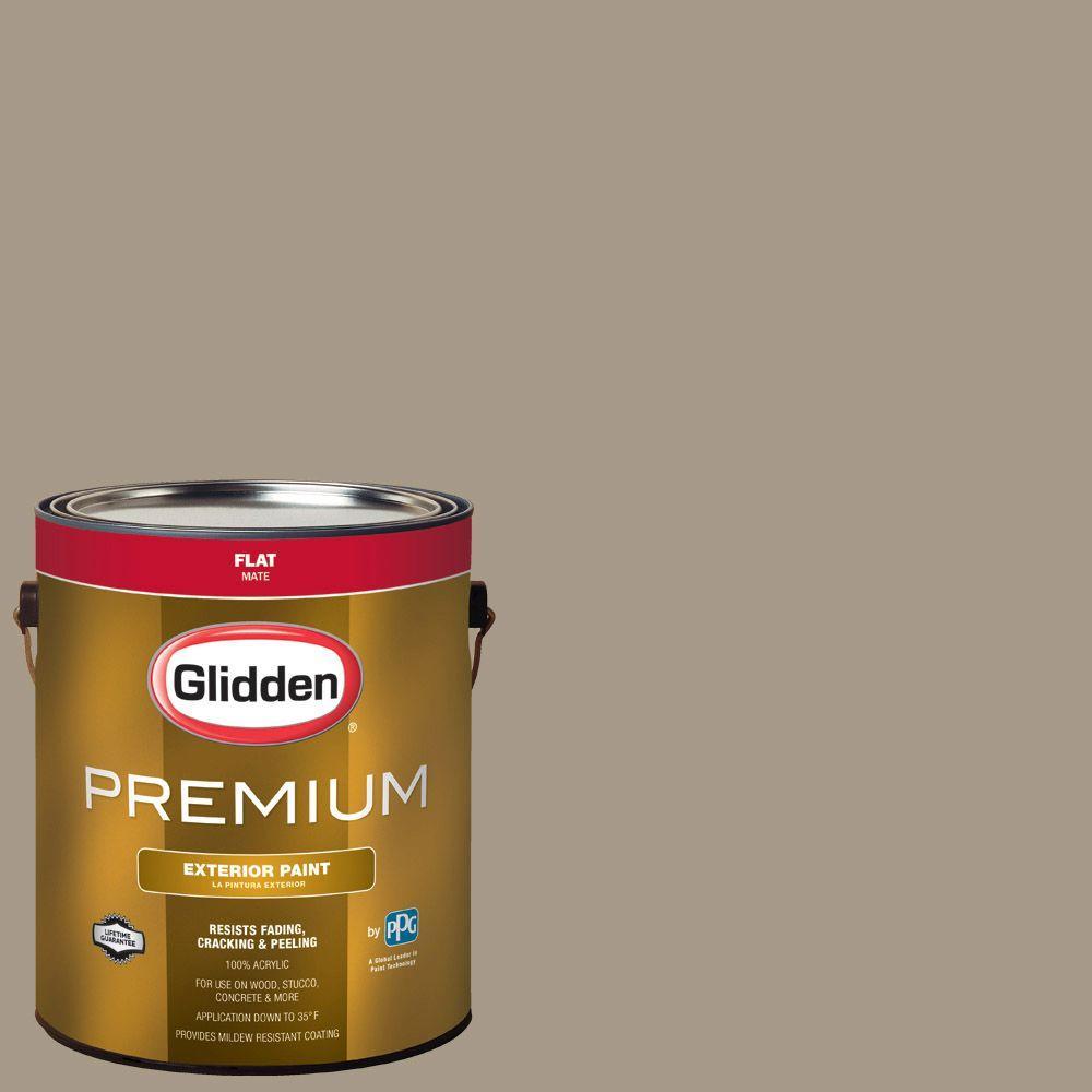 1-gal. #HDGWN59 Grand Canyon Tan Flat Latex Exterior Paint